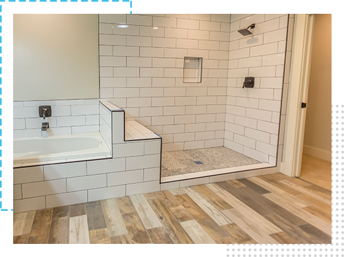 Burlington bathroom renovations and custom flooring